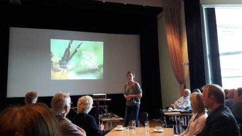 Kristin Sørheim presenterte kommunens nye stolthet, Tingvoll Økopark, som åpner 14. juli.