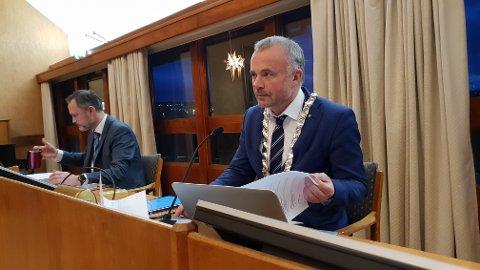 Ordfører Kjell Neergaard og rådmann Arne Ingebrigtsen.