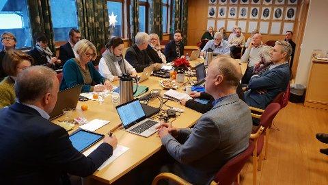 Kristiansund formannskap under budsjettbehandlinga.