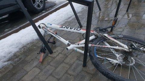Det ble en trist onsdag for eieren av denne sykkelen.