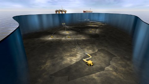 Havbunnsoversikt over hvordan Fogelberg skal bygges ut. Feltet skal knyttes til Equinor-opererte Åsgard B.