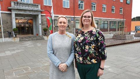 Yvonne Wold (til venstre) og Line Karlsvik er klare for valgkamp.