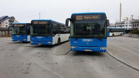 Nye bussruter for Kristiansund kommune trer i kraft fra 1. mai.