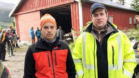 Sauebøndene Mats Ranes og Håvard Krangnes mistet flere sauer. Begge var kommet på arbeid da telefonen ringte, tidlig mandag morgen.