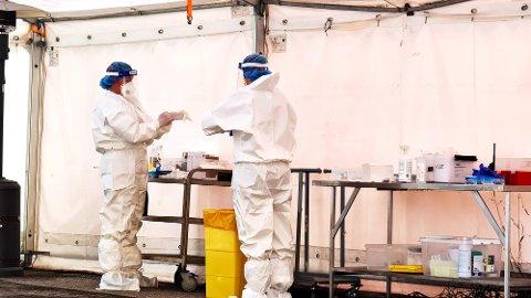 Det gjennomføres nå inntil 200 koronatester daglig ved teststasjonen i Øvre Enggate.