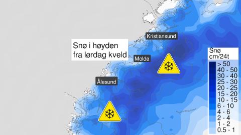 Vinteren er i anmarsj, og det er sendt ut farevarsel for Møre og Romsdal.
