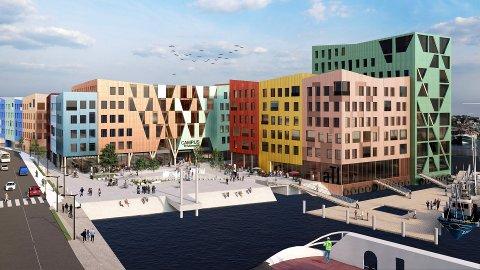 Planforslaget ønsker å gi et fargerikt, åpent og imøtekommende uttrykk mot omgivelsene på Devoldholmen.