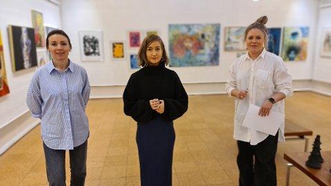 Victoria Åsheim  (fra venstre), Cathrine Bowitz og Idunn Eide Sanden vil formidle kunst som inspirerer og skaper engasjement.