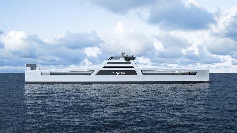HYDROGENSKIP: Wilhelmsen planlegger å starte opp en lasteskip-rute som skal gå mellom Kristiansund og Stavanger. Skipene som skal utvikles skal gå på hydrogen og blir de første skipene av sitt slag i verden.