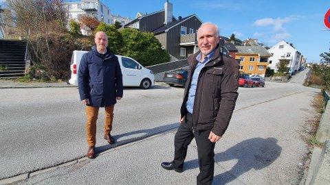 Vi vet mye om hva som skal til for å bli et mer attraktivt sted å bo, sier Ole Jonny Rugset (til venstre) og Johan Aas.