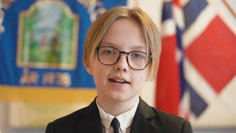 Lukas Bøe Lindstrøm ved Bjerkelund skole.