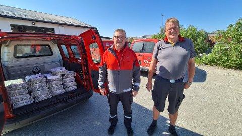 En lang reise i postens tjeneste går mot slutten for veteranene Erik Hammer (til venstre) og Petter Gjersvold.