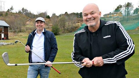 Vidar Johnsen og Kjetil Løbersli håper mange vil spille golf i sommer.
