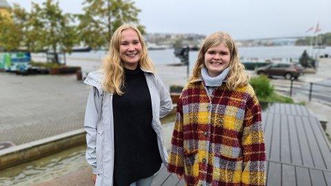 Emma Berge Ness (til venstre) og Dordi Boksasp Lerum jobber med å etablere Senterungdommen i Kristiansund.
