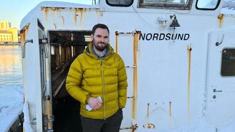 Jens Christian Boxaspen lanserer et nytt prosjekt som skal skape nytt liv i sundbåten Nordsund på Innlandet i Kristiansund.