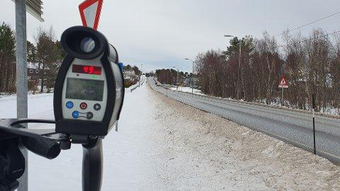 Politiet gjennomførte torsdag ettermiddag fartskontroll på Frei.