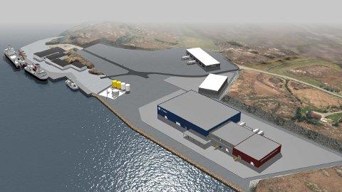 Vikan havn på Smøla, slik en tenker seg hvordan det kan bli.