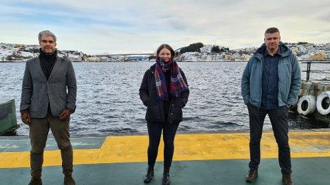 Offensive: Ragnar Rønning (fra venstre), Nina Furseth og Kjetil Klaussen gleder seg til å satse globalt med utgangspunkt i Kristiansund.