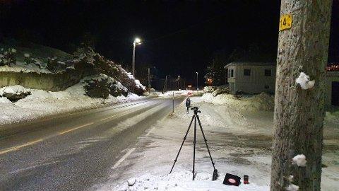 Politiet gjennomførte søndag en fartskontroll på Rensvik.