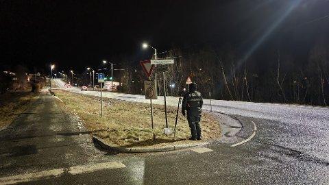 Politiet rigget seg opp på Rensvik og kontollerte trafikken i begge retninger.
