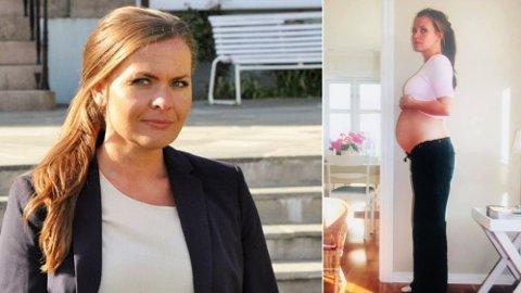 Jorunn Elisabet Gleditsch Lossius (KrF) viser fram sin mave, 22 uker på vei, i et svært personlig Facebook-innlegg.