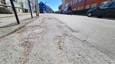 Hauggata er prioritert for asfaltering i 2021.