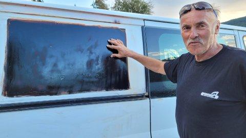 Odd Halvor Gustad sier bilen ikke så ut etter han fant den igjen i Tingvoll.