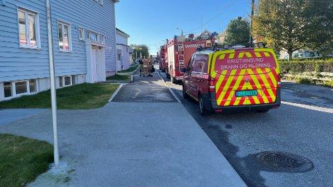 Røyk men ingen ild da brannvesenet rykket ut tirsdag ettermiddag.