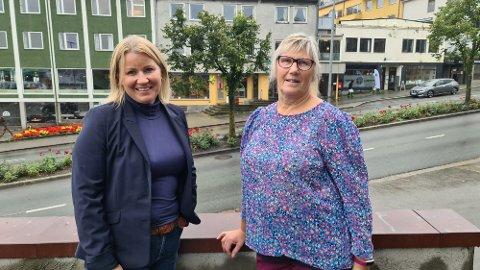 – Vi ønsker disse pengene i sirkulasjon raskest mulig, sier Kristin Heggelund og Jorunn Karin Kvernen.