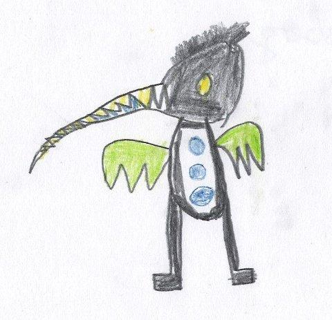 TEGNINGEN: Slik så myggen ut da den kom fra tegnebrettet hos Carl Christian Brekke.