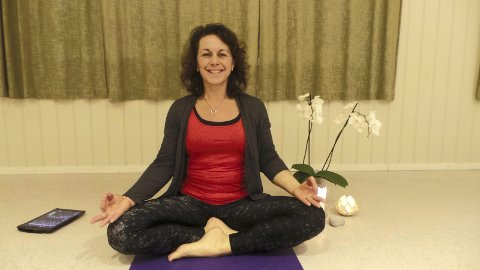 I balanse: Yoga har gitt  Linda både styrke, smidighet og balanse i kropp og sinn. Foto: Emira Holmøy
