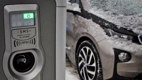 ELBIL I KULDA: Vinteren er kommet – og det betyr at særlig elbileiere får noen ekstra utfordringer på grunn av kulde og snø. Men hvis du planlegger, slipper du å kjøre tom. (Illustrasjonsfoto)