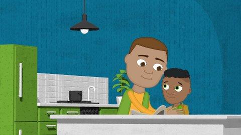 ÅPENHET: I bildet ser vi gutten Orak som skal fortelle pappaen sin om et overgrep.