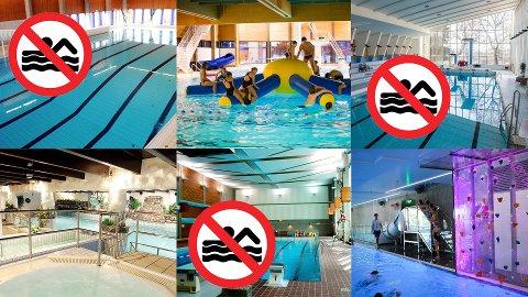 ÅPENT OG STENGT: Noen svømmehaller holder åpent i påsken, selv om mange stenger.