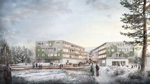 PLUSSHUSSKOLE: Nye Horten videregående skole skal bli et plusshus som produserer mer energi enn det forbruker. Det skal gjøres blant annet med hjelp av solenergi og vannbåren varme.