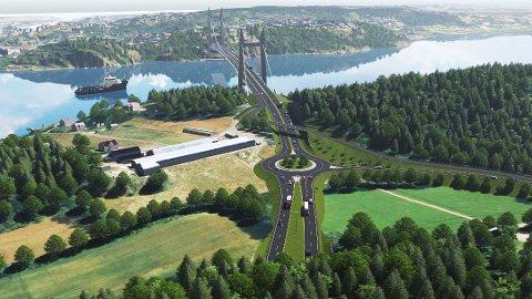 GIKK FOR BRU: Fylkestinget vedtok bruløsningen for ny fastlandsforbindelse til Nøtterøy og Tjøme.