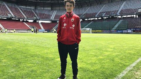 ENDA EN: Martin Fjeld (15) er seneste guttelandslagsspiller fra Nøtterøy IF.