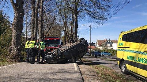 Ulykken har skjedd i Ørsnesalleen.