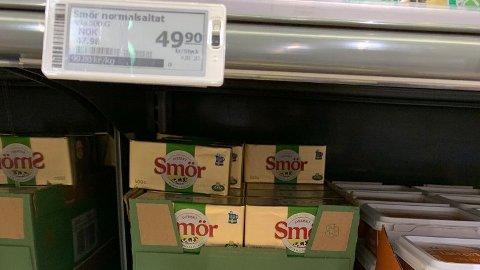DYRT: Smør bør du tenke deg nøye om før du handler i Sverige. Foto: Halvor Ripegutu