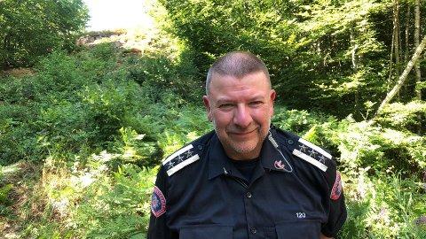 KREVENDE: – Dette kan bli en svært krevende sommer, sier brannsjef Per Olav Pettersen i Vestfold interkommunale brannvesen.