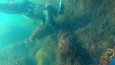 MYSTERIUM: Dykkerne gjorde et uventet funn ved Store Færder.
