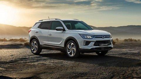 HELT NY: SsangYong er bare én av flere helt nye biltyper som i løpet av helgen blir utstilt i Vestfoldhallen.