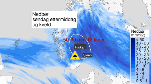 LOVER IKKE GODT: Prognosene for søndag lover ikke godt for Vestfold og resten av Østlandet.