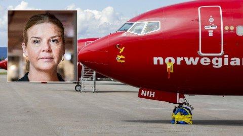 Et fly fra Norwegian tar av fra Oslo Lufthavn Gardermoen.