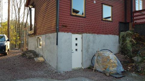 FERDIG: Den planlagte kjelleren på en fridtidseiendom I Øraveien ble ferdig før søknaden ble sendt.