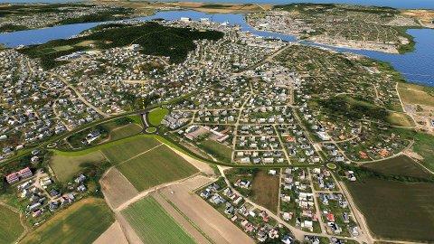 SLIK KAN DET BLI: Dette er et av forslagene som Statens vegvesen har fått laget. Nå starter arbeidet med reguleringsplanen. Illustrasjon: Statens vegvesen