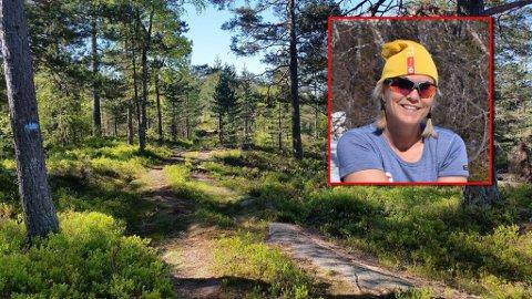 UT PÅ TUR: Anne-Lene Stulen oppfordrer alle til å ta seg en tur ut i nærområdet.