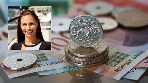 LØNNSOM SPARING: - Du skaffer ikke den millionen på tre år, sier forbrukerøkonom Cecilie Tvetenstrand i Danske Bank om sparingen du kan oppnå ved å sette penger fra rentekuttet i aksjefond. (Foto: NTB Scanpix / Danske Bank)