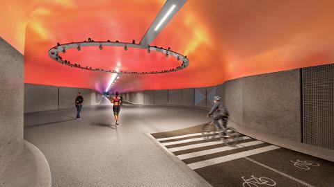 TUNNEL UTEN BILER: I Bergen skal det bygges en 2,9 kilometer lang gang- og sykkeltunnel. Nå vil Venstre gjøre det samme her.