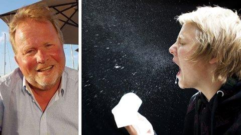 Kjetil Høye vet at mange sliter med å skille mellom influensa, forkjølelse og korona fordi symptomene er så like. Foto: NTB scanpix/Privat